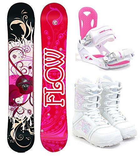 スノーボード ウィンタースポーツ フロウ 2017年モデル2018年モデル多数 Flow 2018 Tula Women's Complete Snowboard Package M3 Bindings + Boots - Board Size 144 (Boot Size 9)スノーボード ウィンタースポーツ フロウ 2017年モデル2018年モデル多数