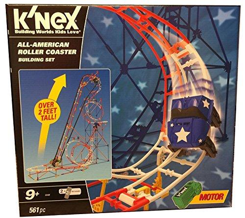ケネックス 知育玩具 パズル ブロック Knex All-American Roller Coaster Building Setケネックス 知育玩具 パズル ブロック