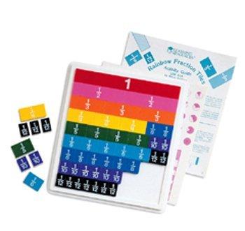 知育玩具 パズル ブロック ラーニングリソース LER0615-8 【送料無料】8 Pack LEARNING RESOURCES RAINBOW FRACTION TILES W/ 51 PCS知育玩具 パズル ブロック ラーニングリソース LER0615-8