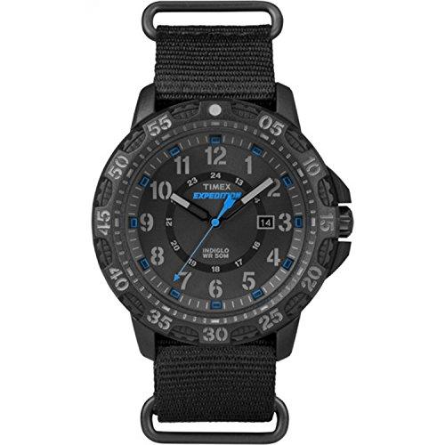 タイメックス 腕時計 メンズ TW4B03500 【送料無料】Timex Men's TW4B03500 Expedition Gallatin Black/Blue Nylon Slip-Thru Strap Watchタイメックス 腕時計 メンズ TW4B03500