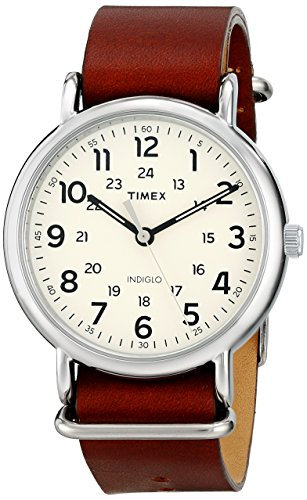 腕時計 タイメックス メンズ TW2P85800 【送料無料】Timex Men's TW2P85800 Weekender 40 Titanium-Tone/Dark Brown Leather Slip-Thru Strap Watch,Antique Black腕時計 タイメックス メンズ TW2P85800