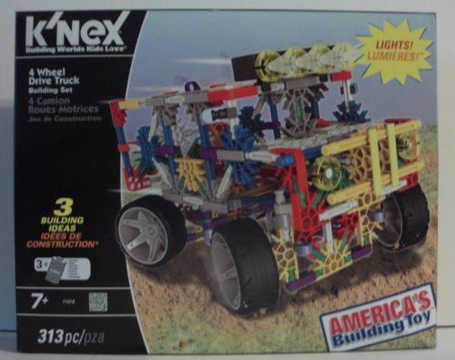ケネックス 知育玩具 パズル ブロック K'nex 4 Wheel Drive Truck Building Set with Lightsケネックス 知育玩具 パズル ブロック