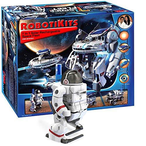 ロボット 知育玩具 パズル ブロック OWI-MSK641 OWI Solar Space Fleet | Transform into 7 Different Space Robots | No Batteries | Solar Powe赤ロボット 知育玩具 パズル ブロック OWI-MSK641