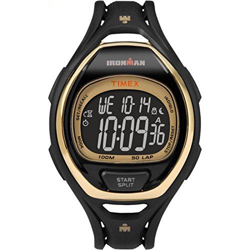 腕時計 タイメックス メンズ TW5M06000 【送料無料】Timex Unisex TW5M06000 Ironman Sleek 50 Full-Size Black/Gold-Tone Resin Strap Watch腕時計 タイメックス メンズ TW5M06000