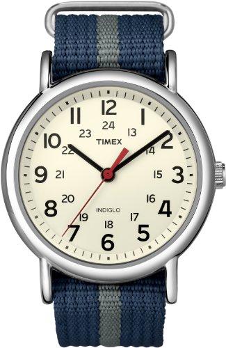 タイメックス 腕時計 メンズ T2N654 【送料無料】Timex Unisex Weekender Slip-Through Watch - Navy/Grayタイメックス 腕時計 メンズ T2N654