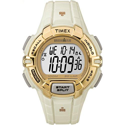 タイメックス 腕時計 メンズ TW5M06200 Timex Unisex TW5M06200 Ironman Rugged 30 Full-Size White/Gold-Tone Resin Strap Watchタイメックス 腕時計 メンズ TW5M06200