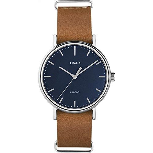 タイメックス 腕時計 レディース TW2P98300 【送料無料】Timex Unisex TW2P98300 Fairfield 37 Tan Leather Slip-Thru Strap Watchタイメックス 腕時計 レディース TW2P98300