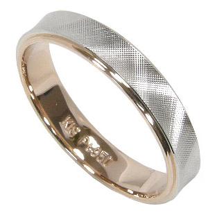 【サイズ限定 10号】【刻印無料】プラチナマリッジリング結婚指輪:プラチナ950/K18PG