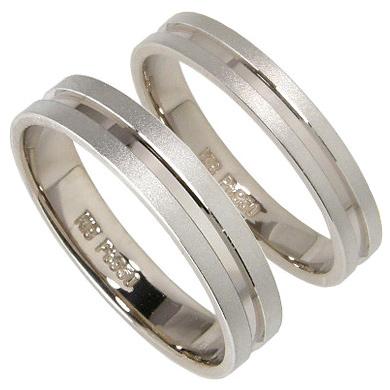 【10%OFF】お買い物マラソン【刻印無料】2本セット:プラチナマリッジリング結婚指輪:プラチナ950/K18WG