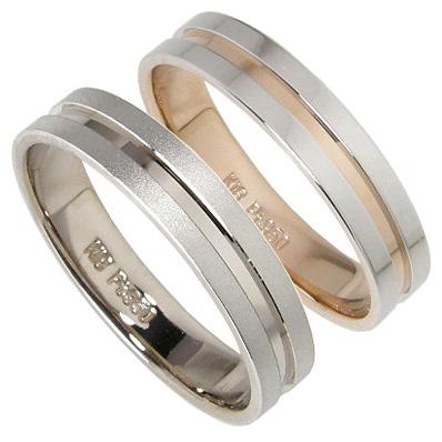 【10%OFFクーポン】お買い物マラソン 【刻印無料】2本セット:プラチナマリッジリング結婚指輪:プラチナ950/K18PG:K18WG