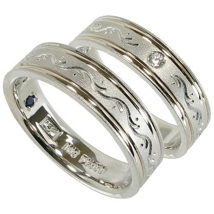 【高い素材】 【10%OFFクーポン】週末限定 2本セット プラチナマリッジリング結婚指輪 プラチナ950(Pt950)/K18【刻印無料】, アキシマシ 64990d99