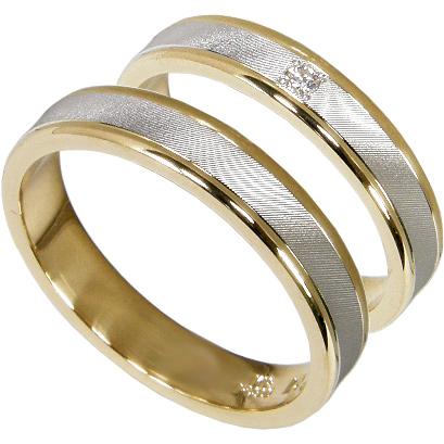 【10%OFF】お買い物マラソン【刻印無料】2本セット:プラチナ900/K18:プラチナマリッジリング結婚指輪