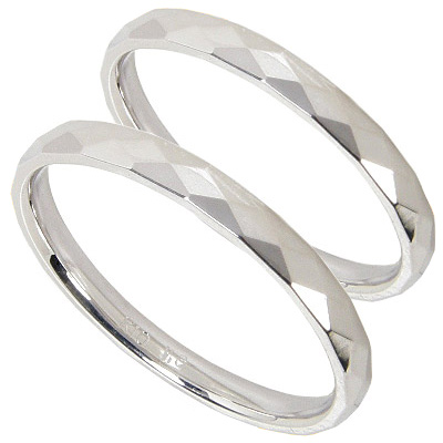 【10%OFF】お買い物マラソン【刻印無料】マリッジリング:ペアリング:2本セット:結婚指輪/K10ホワイトゴールド:K10WG