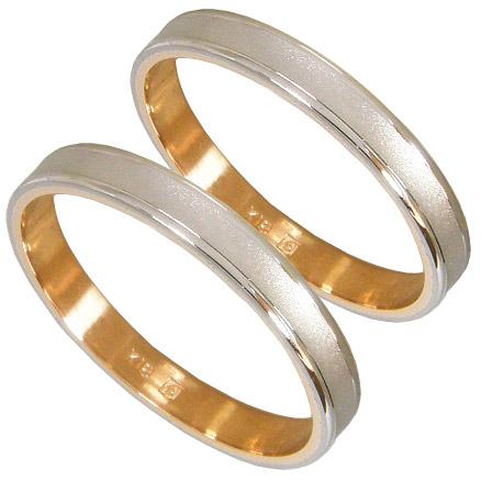 【5%OFFクーポン】5/24迄 【刻印無料】ペアリング2本セット マリッジリング結婚指輪 K18 ホワイトゴールド K18WG K18ピンクゴールド K18PG 平打ち コンビリング 艶消し 結婚記念日