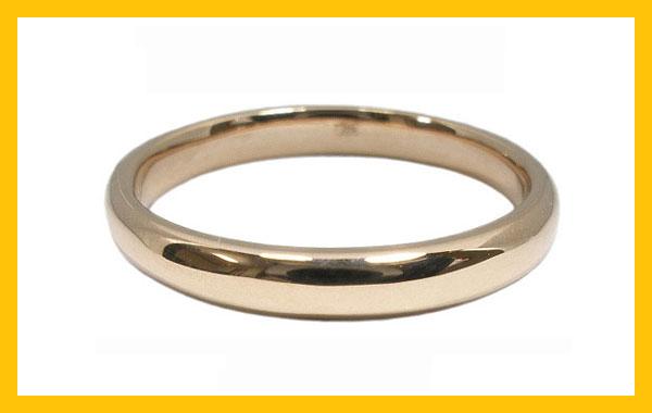 【10%OFF】スーパーセール 【刻印無料】2本セット:甲丸:マリッジリング結婚指輪:K18ピンクゴールド:K18PG