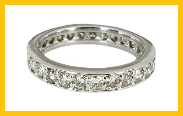 【10%OFF】スーパーセール ダイヤ エタニティ フルエタニティリング ダイヤモンド 1カラット 1.0ct ダイヤ エタニティ リング ダイヤ エタニティ K18WG K18 ホワイトゴールド