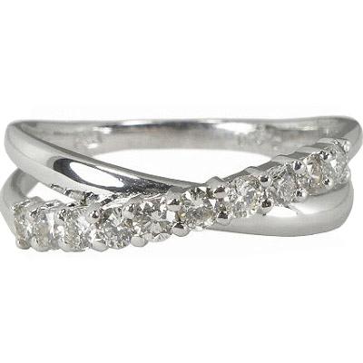 エタニティリング K18ホワイトゴールド K18WG ダイヤモンド10石 0.3カラット 0.3ct 6号7号8号9号10号11号12号13号14号15号 結婚10年目 結婚10周年 結婚記念日【ダイヤ エタニティ リング】