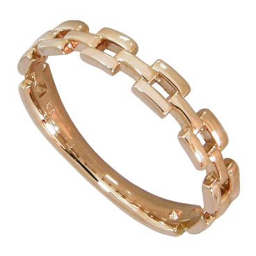 チェーンリング K18 ピンクゴールド 18金 K18PG 7連 スクエア チェーン リング 指輪 レディース 地金 宝石なし 誕生日 結婚記念日 プレゼント 結婚記念日プレゼント 6号 7号 8号 9号 10号 11号 12号 13号 14号 15号 ハーフサイズ