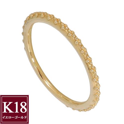 連なるお花 フラワーリング 指輪 K18 ゴールド K18YG K18イエローゴールド 18金 レディース 妻 彼女 誕生日 結婚記念日 プレゼント 地金 石なし 5号 6号 7号 8号 9号 10号 11号 12号 13号 14号 15号
