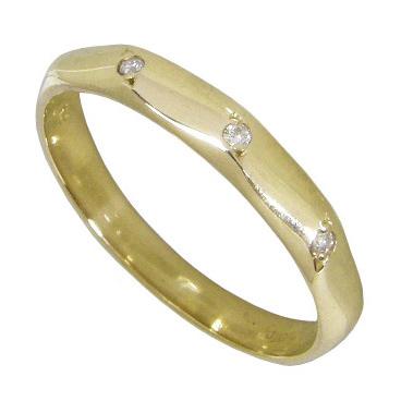 【10%OFF】お買い物マラソンピンキーリング K18イエローゴールド K18YG 指輪 3ストーンダイヤモンド0.01ct ピンキーリング