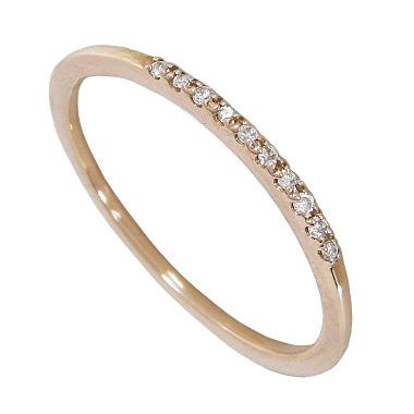 【10%OFF】お買い物マラソンダイヤ エタニティリング スリム ピンキーリング対応 K10ピンクゴールド ダイヤモンド 指輪 リング