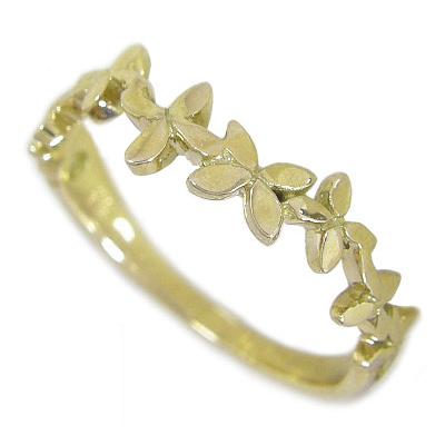 K18 ゴールド リング 指輪 レディース 女性に人気の「葉」 リーフリング K18イエローゴールド K18YG