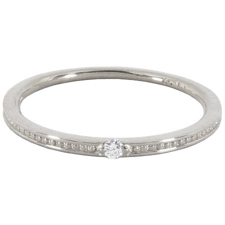 【K18】ピンキーリング ダイヤモンド ミル打ち(ミルグレイン) ピンキーリング K18 K18ホワイトゴールド 0号 1号 2号 3号 4号 5号 6号 7号 K18 ゴールド 18金 指輪