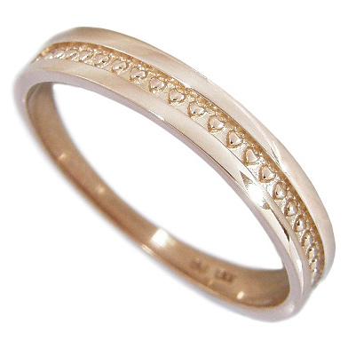 【5%OFFクーポン】5/24迄 ピンキーリング【ハートミルグレイン:ハートのミル打ち模様】K10ピンクゴールド K10PG 0号1号2号3号4号5号6号7号 リング 指輪 ハートリング ピンキーリング ゴールド K10 10金