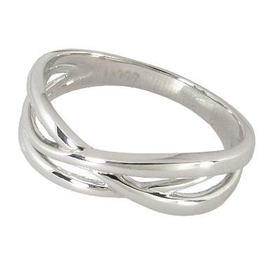 ピンキーリング プラチナ 3連 クロス ピンキー リング プラチナ950 Pt950 プラチナリング 指輪 指輪 地金 シンプル レディース 記念日 サイズ 0号-7.5号 0号 1号 2号 3号 4号 5号 6号 7号 ハーフサイズ