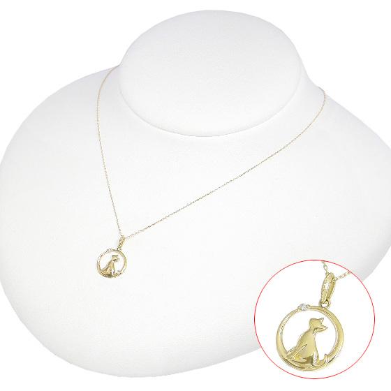 5 OFFクーポン 6 19限定 猫 ネックレス 月と猫 ダイヤモンド 猫ネックレスK10イエローゴールド K10YG ネQoWExerdBC