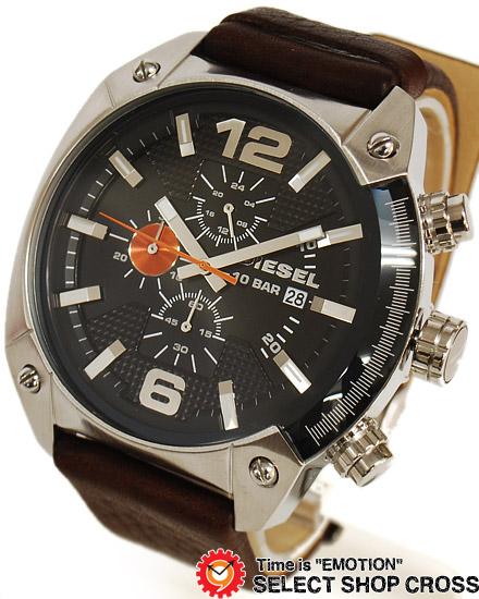 ディーゼル DIESEL メンズ 腕時計 クロノグラフ アナログ 革 レザーベルト DZ4204 ブラック 黒 【男性用腕時計 時計 リストウォッチ ランキング ブランド 防水 革ベルト カラフル】