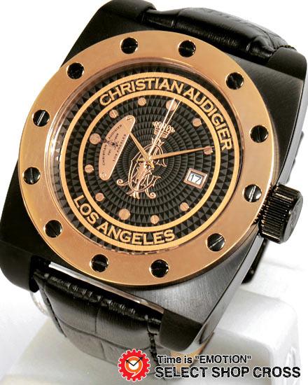 クリスチャンオードジェー for-219 CHRISTIAN AUDIGIER FORTRESS 腕時計 ブラック 黒×ゴールド 【男性用腕時計 リストウォッチ ランキング ブランド 防水 カラフル】