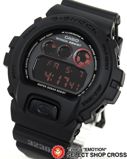 黒 防水 メンズ ブラック 【3年保証】 DW-6900MS-1 Gショック カシオ 腕時計 ジーショック 【名入れ対応】 MAT BLACK RED EYE DW-6900MS-1DR CASIO G-SHOCK