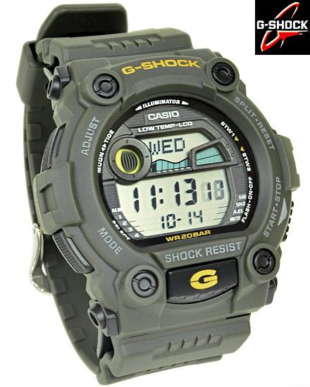 【名入れ対応】 【3年保証】 カシオ CASIO G-SHOCK Gショック 防水 ジーショック 腕時計 メンズ G-7900-3DR カーキ
