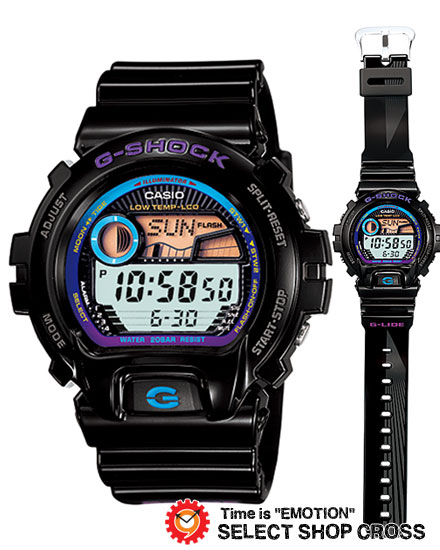 【名入れ対応】 【100%本物保証】 【3年保証】 カシオ CASIO G-SHOCK Gショック 防水 ジーショック 腕時計 メンズ G-LIDE 海外モデル GLX-6900-1DR ブラック 黒×パープル [国内 GLX-6900-1JF と同型]