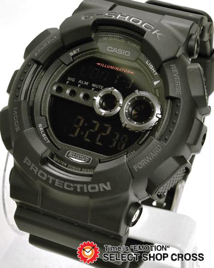 【名入れ対応】 【3年保証】 カシオ CASIO G-SHOCK Gショック 防水 ジーショック 腕時計 メンズ 国内モデル GD-100-1BJF ブラック 黒 【あす楽】