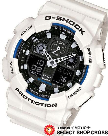 【名入れ・ラッピング対応可】 【3年保証】 カシオ Gショック 防水 ジーショック CASIO G-SHOCK メンズ 腕時計 アナデジ 国内モデル GA-100B-7AJF ホワイト 白