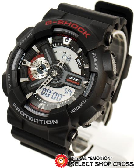【名入れ対応】 【3年保証】 カシオ Gショック 防水 ジーショック GA-110-1ADR アナデジ メンズ 腕時計 CASIO G-SHOCK ブラック 黒
