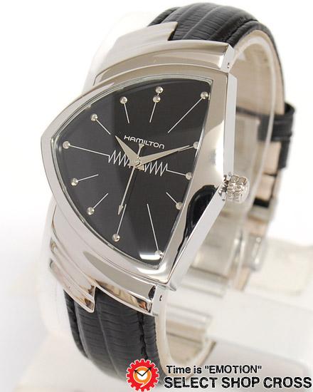 ハミルトン HAMILTON Ventura ベンチュラ メンズ 腕時計 H24411732 アナログ ブラック 黒 【男性用腕時計 リストウォッチ ランキング ブランド 防水 カラフル】