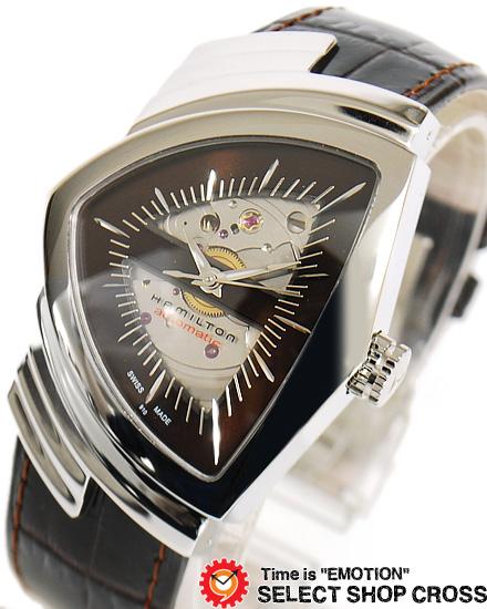 ハミルトン HAMILTON Ventura ベンチュラ メンズ 腕時計 アナログ 自動巻き H24515591 ブラウン 【男性用腕時計 リストウォッチ ランキング ブランド 防水 カラフル】
