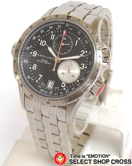 ハミルトン HAMILTON Khaki ETO メンズ 腕時計 アナログ H77612133 ブラック 黒 【男性用腕時計 リストウォッチ ランキング ブランド 防水 カラフル】