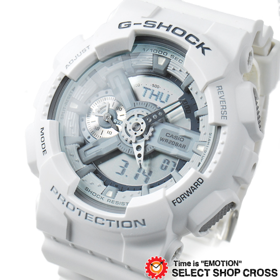 【名入れ対応】 【3年保証】 カシオ CASIO G-SHOCK Gショック 防水 ジーショック 腕時計 メンズ 国内モデル GA-110C-7AJF ホワイト 白