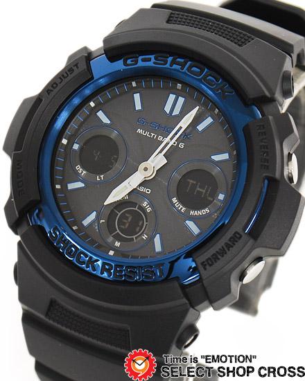 【名入れ対応】 【3年保証】 カシオ 腕時計 CASIO G-SHOCK ジーショック メンズ AWG-M100A-1A CASIO ジーショック 電波 ソーラー メンズ 時計 アナデジ AWG-M100A-1ADR ブラック 黒 ブルー 海外モデル [国内 AWG-M100A-1AJF と同型] カシオ 腕時計 【あす楽】
