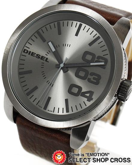 ディーゼル DIESEL メンズ 腕時計 アナログ 革 レザーベルト DZ1467 ガンメタル/ブラウン 【男性用腕時計 時計 リストウォッチ ランキング ブランド 防水 革ベルト カラフル】