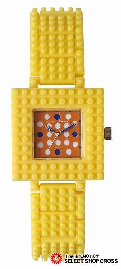 ナノブロック NANO BLOCK Wristwatch デコレーション クォーツ 腕時計 naw-3410ob イエロー×オレンジ