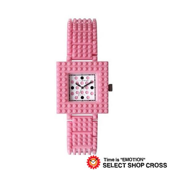 ナノブロック NANO BLOCK メンズ レディース ユニセックス デコレーション クオーツ 腕時計 ブランド naw-3410wpr ピンク×ホワイト 【着後レビューを書いて1000円OFFクーポンGET】