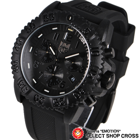 Shop cross9 luminox luminox mens us navy seals watch colormark chronograph black out 3081 for Watches navy seals use