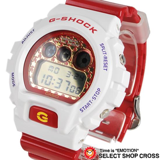 驚きの値段 【名入れ・ラッピング対応可】 【3年保証】 Gショック 防水 ジーショック カシオ G-SHOCK CASIO 腕時計 メンズ クレージーカラーズ DW-6900SC-7DR ホワイト 白 /レッド 海外モデル, リサイクル ハンター d860eec5