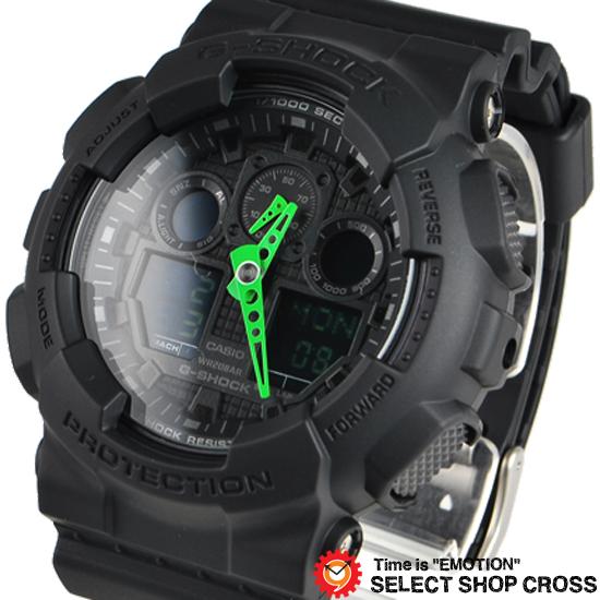 【名入れ対応】 【3年保証】 Gショック 防水 ジーショック カシオ G-SHOCK CASIO メンズ 腕時計 アナログ GA-100C-1A3DR ブラック 黒 海外モデル 【あす楽】