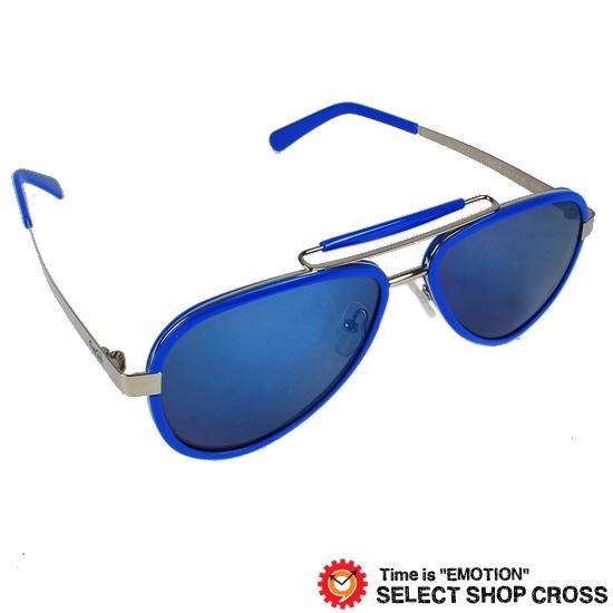 GAGA MILANO ガガミラノ サングラス アイウェア ファッション ブルー/ブラックレンズ/ブルーミラー LU54AC BL BLUE FL